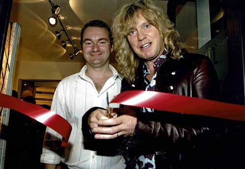 Rick Savage of Def Leppard & Artist Peter Hill 2008