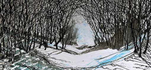 Blue Winter Walk