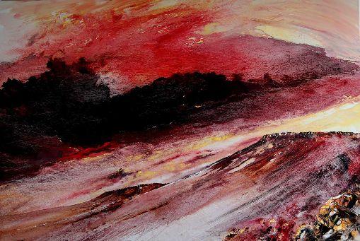 Crimson Skies Over Carl Walk & Higger Tor