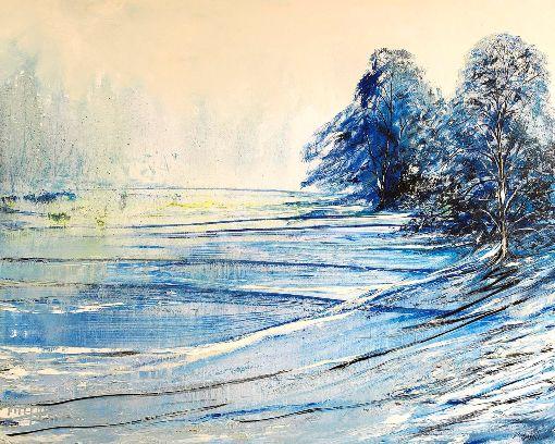 Winter Lake Trees