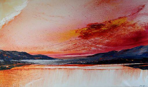 Scarlet Light Over Windermere