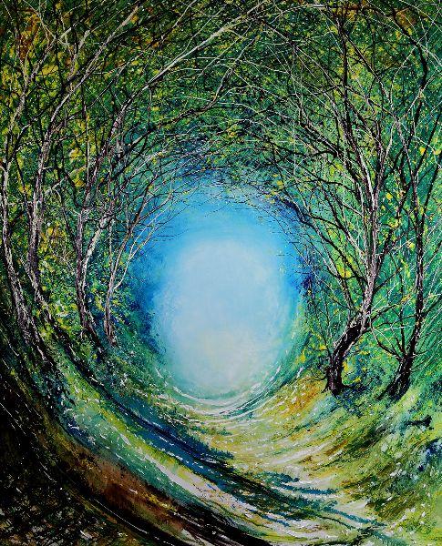 Woodland Moonlight Tree Tunnel